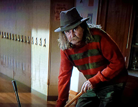 Wes Craven in Scream as Fred the janitor. Such a great little cameo!