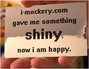 Order a pack of I-Mockery's Shiny Stickers!