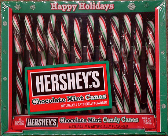 Chocolate + Candy Canes... together at last!