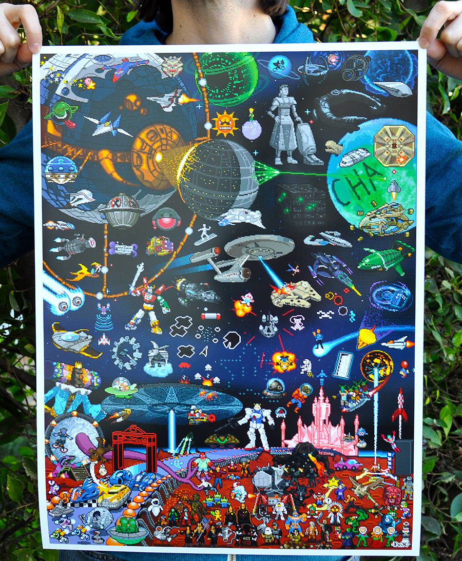 our new pixels in space pixel posters finally arrived order now